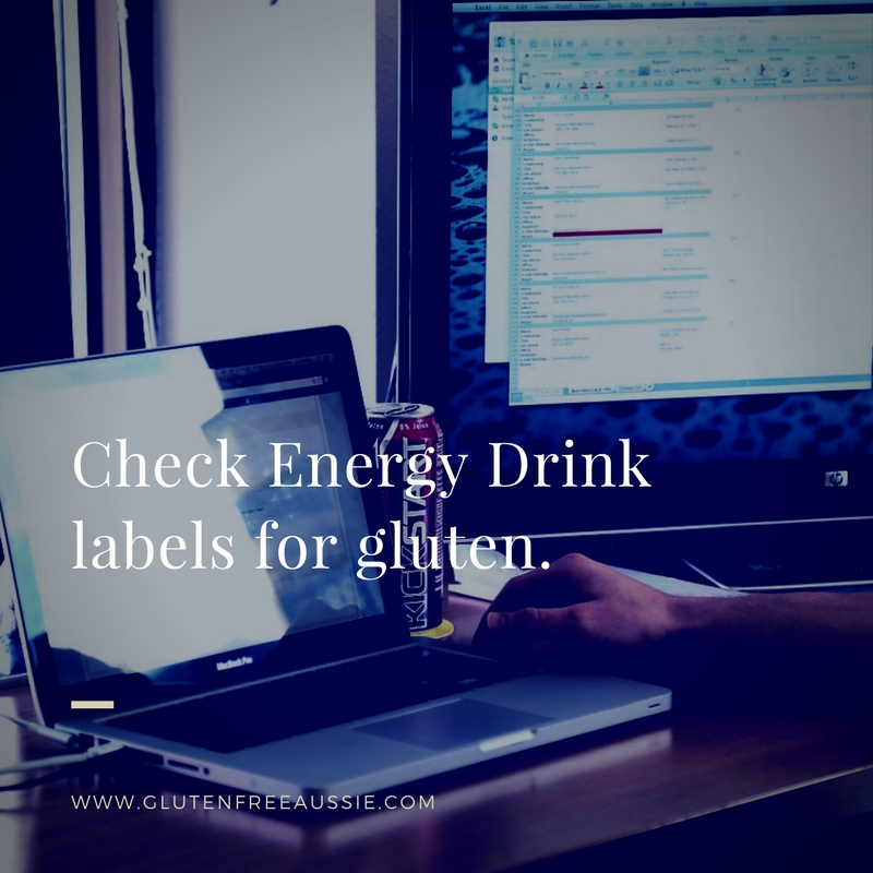 gluten in Energy Drinks