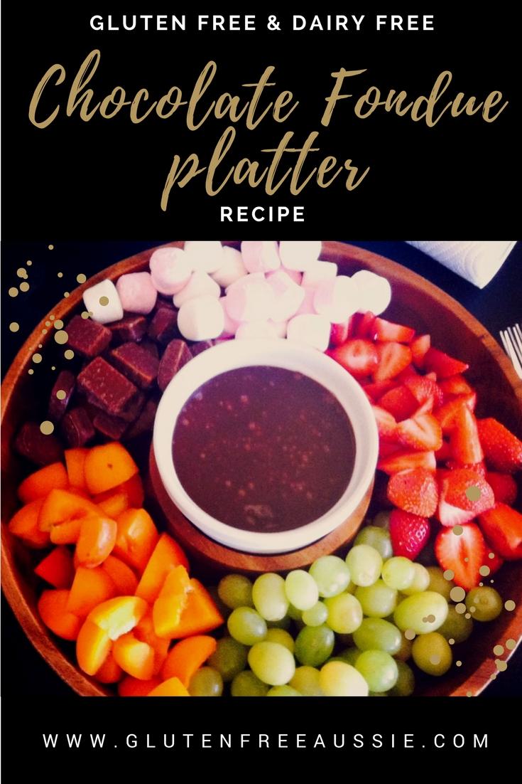 chocolate fondue platte